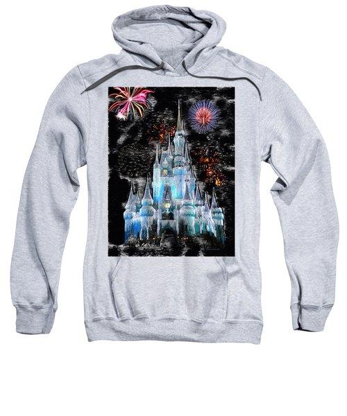 Walt Disney World Frosty Holiday Castle Mp Sweatshirt by Thomas Woolworth