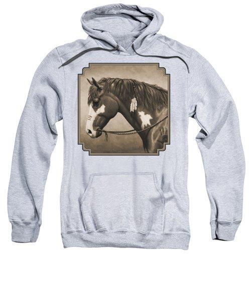 War Horse Aged Photo Fx Sweatshirt by Crista Forest