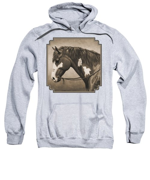 War Horse Aged Photo Fx Sweatshirt