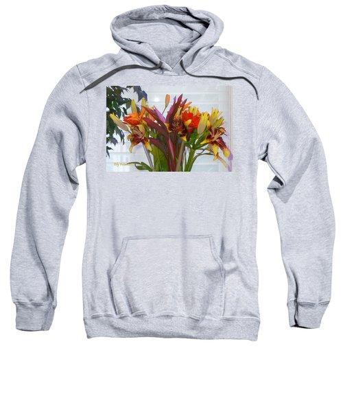 Warm Colored Flowers Sweatshirt