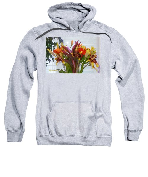 Warm Colored Flowers Sweatshirt
