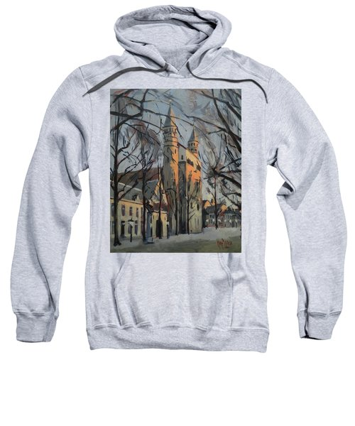 Warm Winterlight Olv Plein Sweatshirt