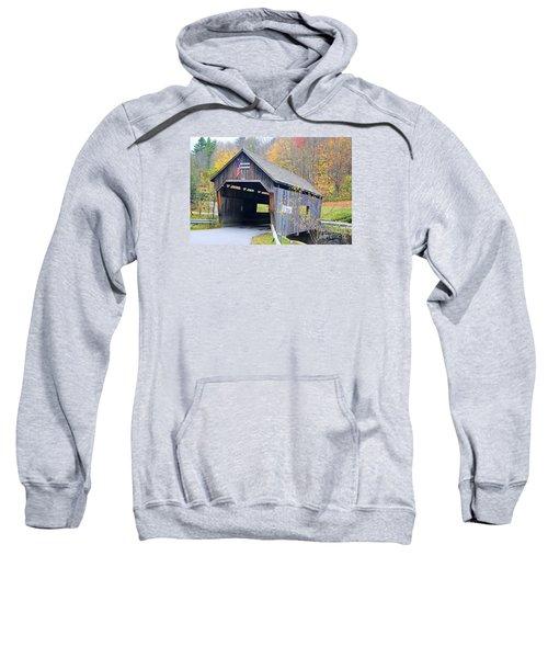 Warren Covered Bridge In Vermont Sweatshirt
