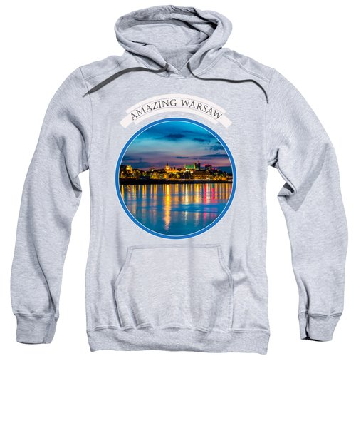Warsaw Souvenir T-shirt Design 1 Blue Sweatshirt