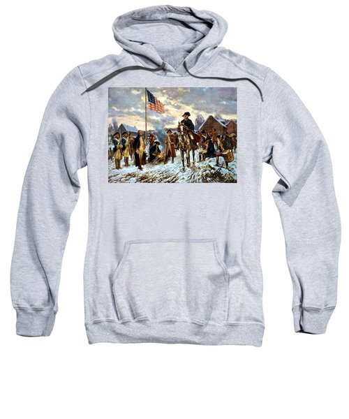 Washington At Valley Forge Sweatshirt by War Is Hell Store