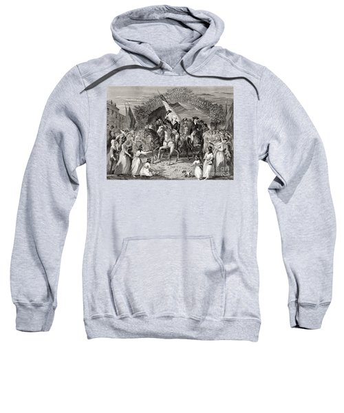 Washington Entering Trenton  New Jersey Usa, 1789 Sweatshirt