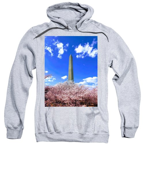Washington Monument Cherry Blossoms Sweatshirt