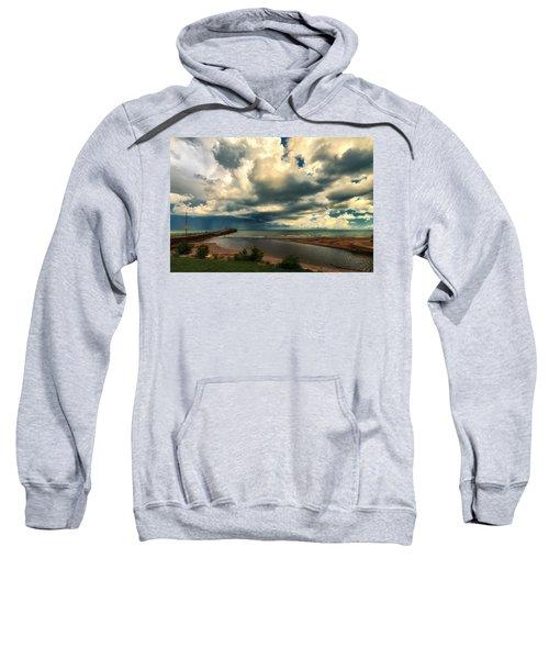 Watching The Storm On Lake Erie Sweatshirt