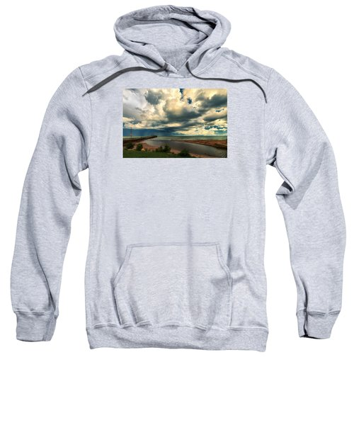 Watching The Storm On Lake Erie Sweatshirt