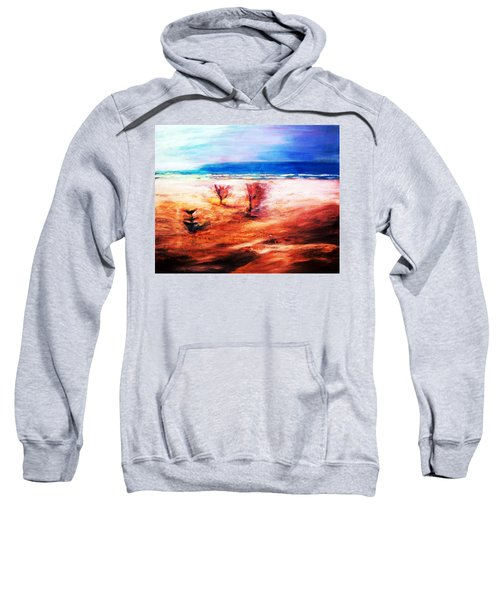 Sweatshirt featuring the painting Water And Earth by Winsome Gunning