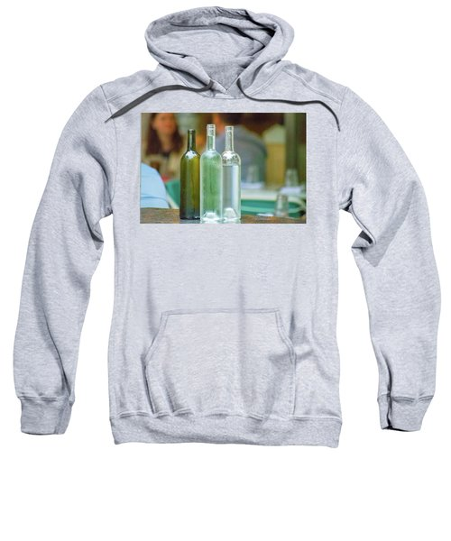 Water Bottles At New York Brasserie No 2 Sweatshirt