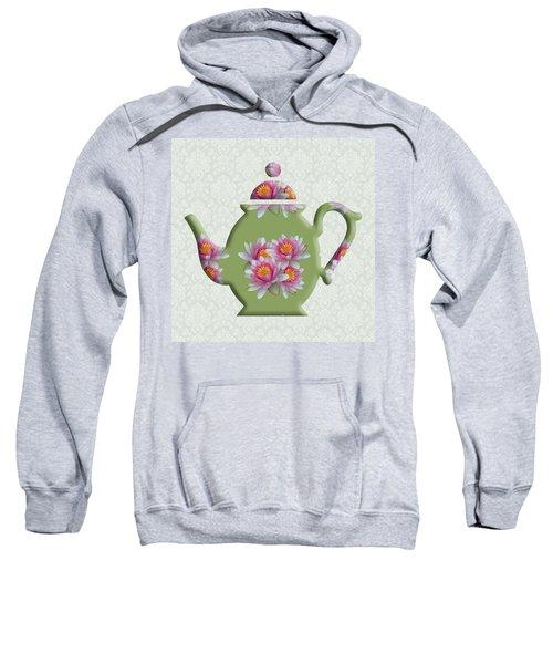 Water Lily Pattern Teapot Sweatshirt