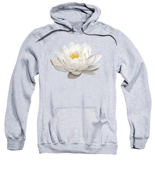 Water Lily Whirlpool Sweatshirt by Gill Billington