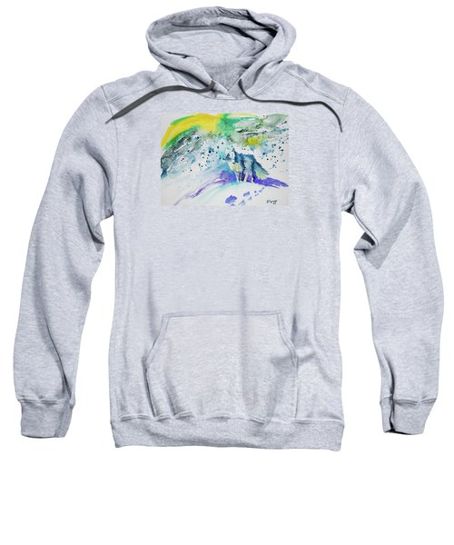 Watercolor - Arctic Fox Sweatshirt