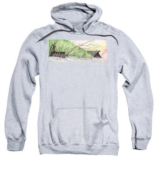 Watercolor Barn Sweatshirt