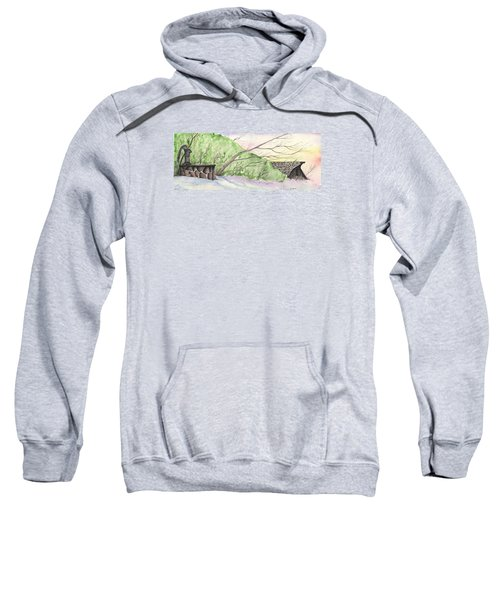 Watercolor Barn Sweatshirt
