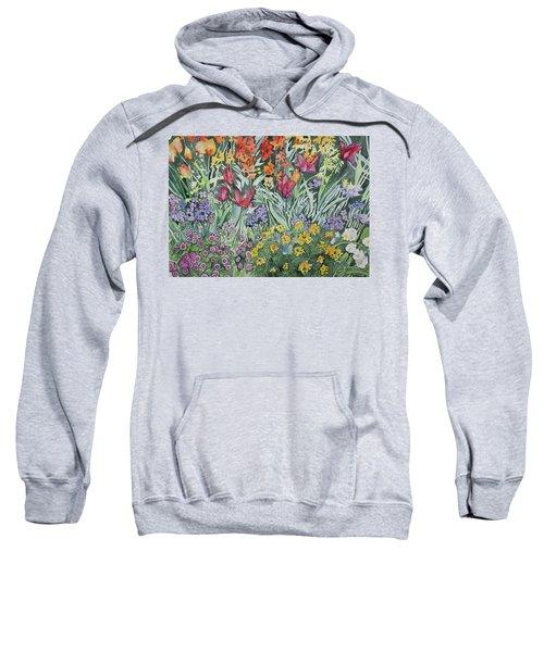 Watercolor - Empress Hotel Gardens Sweatshirt