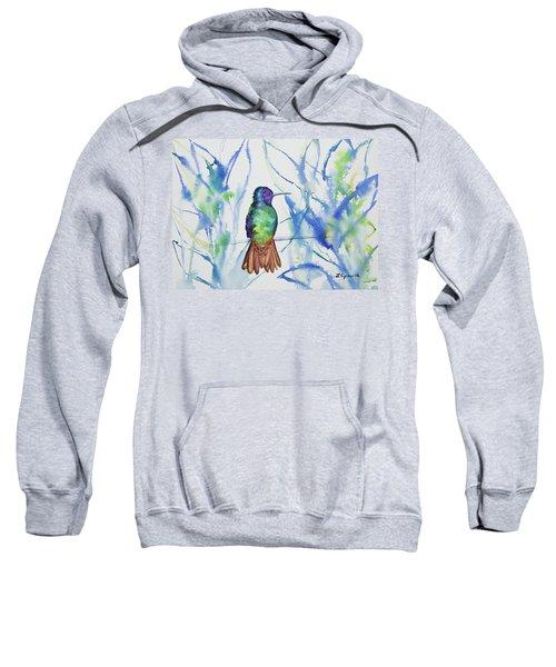 Watercolor - Golden-tailed Sapphire Sweatshirt