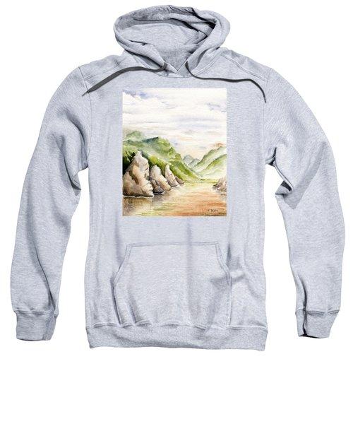Watercolor Landscape Plein Air Sweatshirt