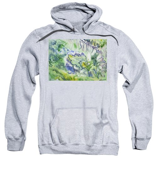 Watercolor - Leaves And Textures Of Nature Sweatshirt