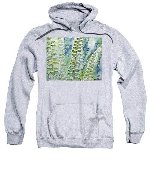 Watercolor - Rainforest Fern Impressions Sweatshirt