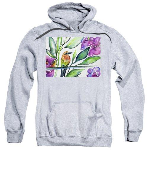 Watercolor - Rufous Motmot Sweatshirt