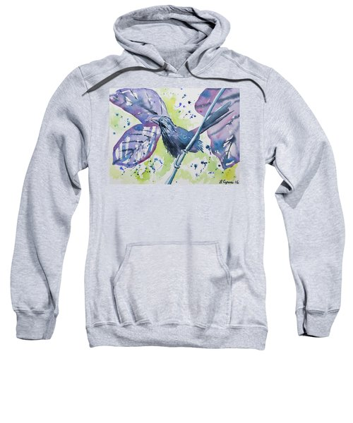 Watercolor - Smooth-billed Ani Sweatshirt