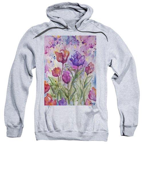 Watercolor - Spring Flowers Sweatshirt