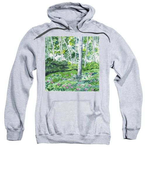 Watercolor - Spring Forest And Flowers Sweatshirt