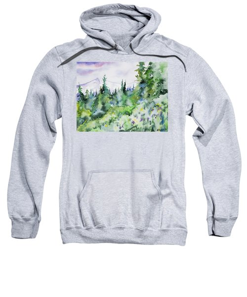 Watercolor - Summer In The Rockies Sweatshirt