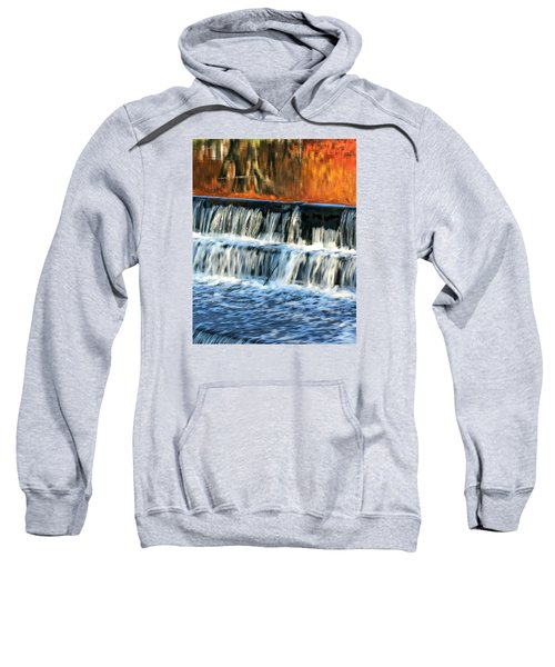 Waterfall In Downtown Waukesha Sweatshirt