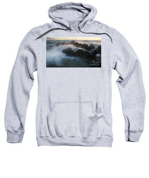 Wave Crashed Rocks 7947 Sweatshirt