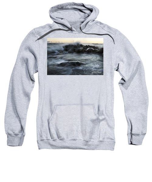 Wave Crashes Rocks 7838 Sweatshirt