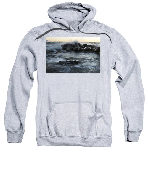 Wave Crashes Rocks 7838 Sweatshirt