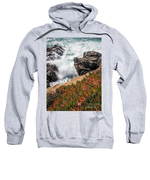 Waves And Rocks At Soberanes Point, California 30296 Sweatshirt