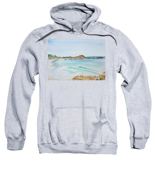 Waves Arriving Ashore In A Tasmanian East Coast Bay Sweatshirt