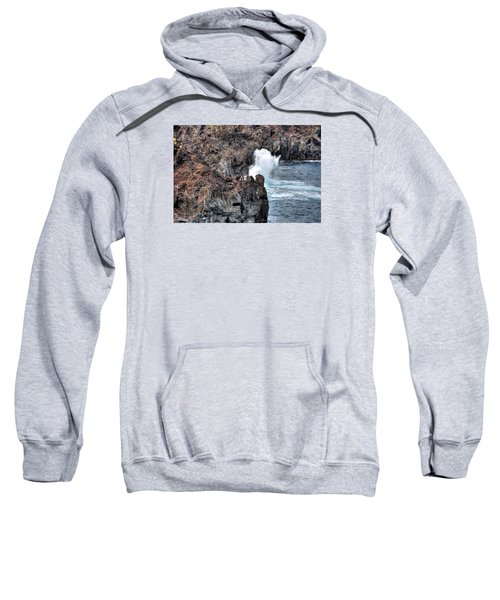 Sweatshirt featuring the photograph Waves Azores-047 by Joseph Amaral