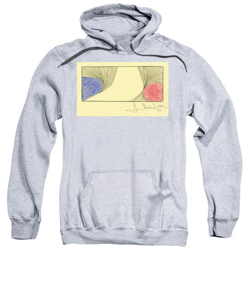Waves Blue Red Sweatshirt