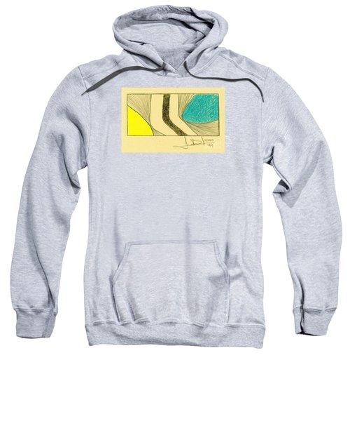 Waves Blue Yellow Sweatshirt