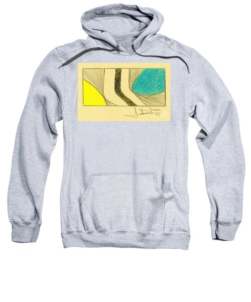 Waves Yellow Blue Sweatshirt