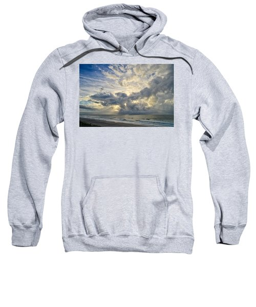 Weather Over Topsail Beach 2977 Sweatshirt