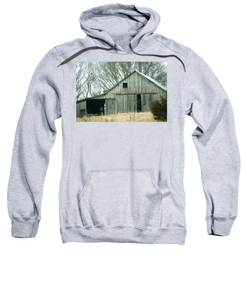 Weathered Barn In Winter Sweatshirt