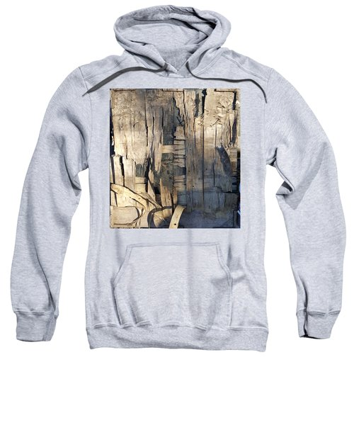 Weathered Plywood Composition Sweatshirt