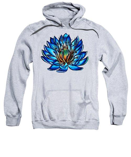 Weird Multi Eyed Blue Water Lily Flower Sweatshirt