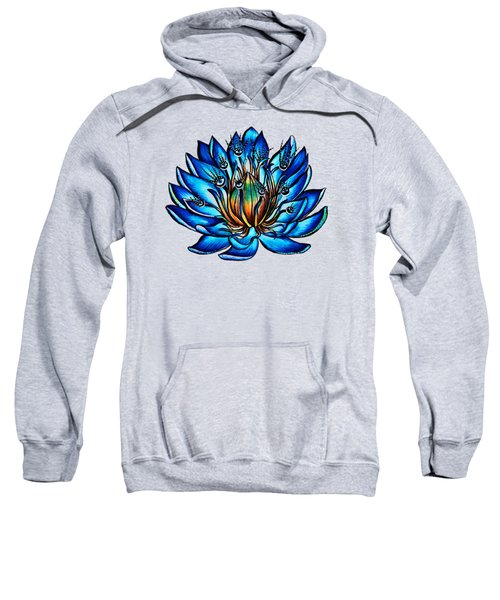 Weird Multi Eyed Blue Water Lily Flower Sweatshirt