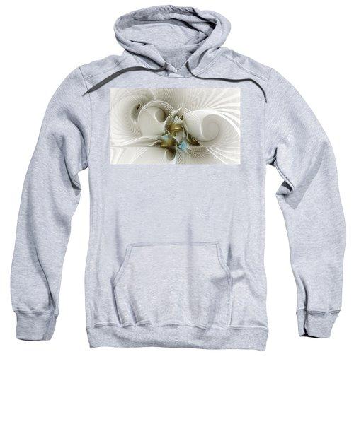 Welcome To The Second Floor-fractal Art Sweatshirt