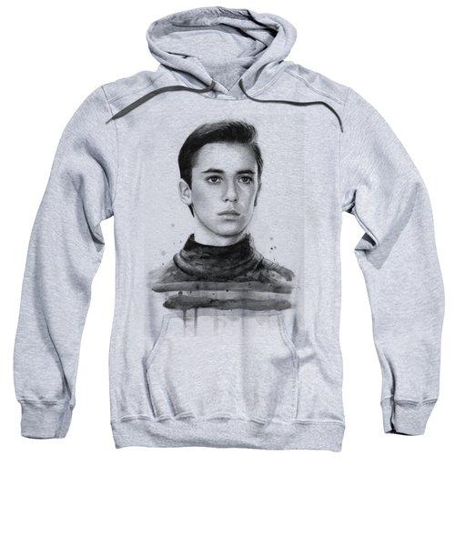 Wesley Crusher Star Trek Fan Art Sweatshirt by Olga Shvartsur