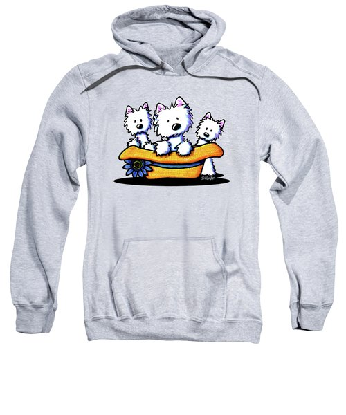 Westie Hat Trio Sweatshirt