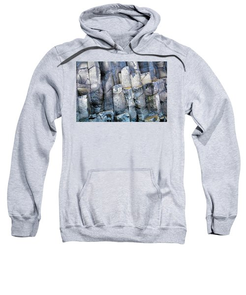 Sweatshirt featuring the photograph Wet Rocks 2 by Hitendra SINKAR