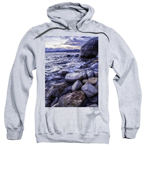 Wet Rocks At Sunset Sweatshirt